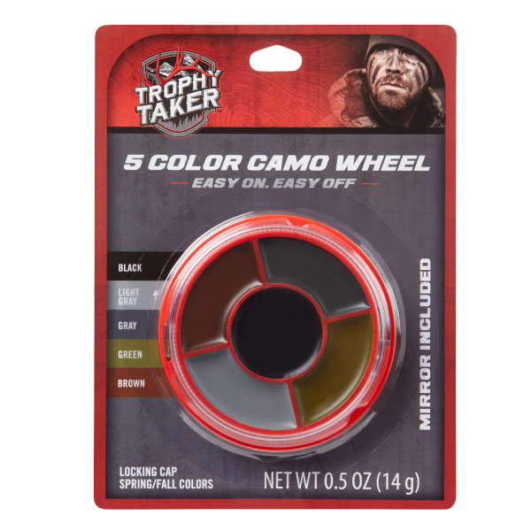 5 Color Camo Wheel Facepaint